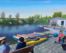 Abbots Quay, Wareham. Original painting