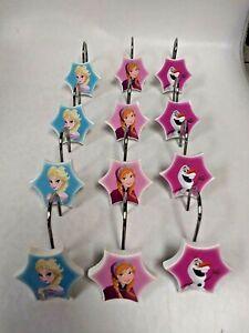 Disney's Frozen Shower Curtain Rings / Hooks ~ Set of 12