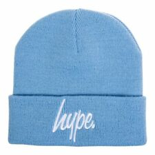 Hype Light Sky Blue Beanie Hat, Warm Winter Headwear, Hype Script Logo