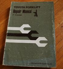 Toyota Forklift F Engine Repair Shop Service Manual Overhaul 1976 Book Gas Guide