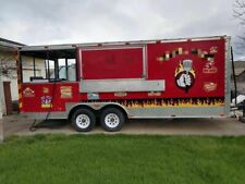 Ready for Action Food Concession Trailer with Porch / Mobile Kitchen Unit for Sa