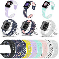 Replacement Silicone Sport Band Strap 40mm 44mm For Apple Watch 4/3/2/1 iWatch