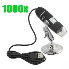 1000X Magnifier 8 LED USB Power Microscope Magnifier 30FPS 2MP Inspection Camera
