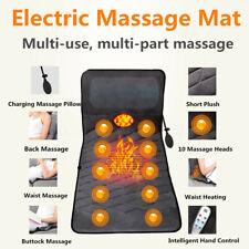 Folding Electric Heated Massage Mat Mattress Neck Massager For Body Pain Relief