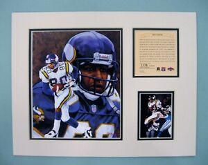 Minnesota Vikings Chris Carter 1997  Football 11x14 MATTED Kelly Russell Print