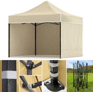 Pop Up Garden Gazebo Wedding Tent Marquee Canopy + 3 side walls gratis