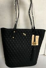 EMMA FOX Caspian Tote/Black Quilted Leather Shoulder Bag/$248/NWT