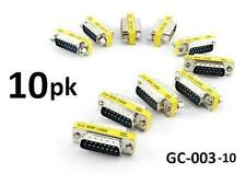 10-PACK DB15 Joystick Male/Male Slim Type Gender Changer Coupler Adapter GC-003