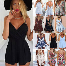 Women Strappy Rompers Jumpsuit Summer Beach Shorts Party Mini Playsuit Holiday