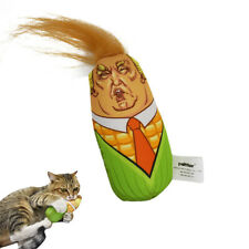 Funny Donald Trump Corn Molding Plush Doll Soft Figure Cat Toy Teaser Catnip