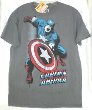 CAPTAIN AMERICA MARVEL COMICS JACK KIRBY T SHIRT  Gray Distressed Large NEW
