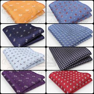 Patterned Satin Wedding Mens Pocket Square Office Suit Handkerchief Hanky Silky