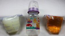 Reborn Bottle Fake Formula Milk & Bag Faux Apple Juice Baby OOAK Doll Set