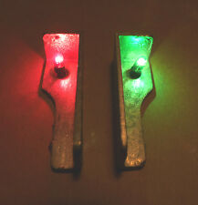 Model Boat Navigation Light Set 6 volt GOW Bulbs. 1 Green, 1 Red Unpainted