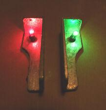 Model Boat Navigation Light Set 6 volt GOW Bulbs. 1 Green, 1 Red Unpainted