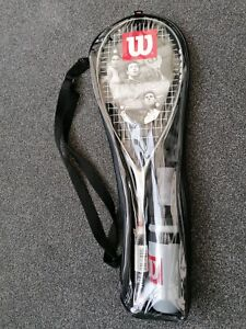 Wilson Titanium Squash Racket Inc Water Bottle and Squash Balls