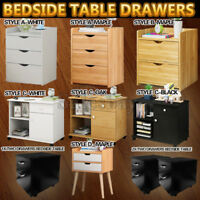 Bedside Table Drawers Tables Nightstand Unit Cabinet Storage Lamp Side Table