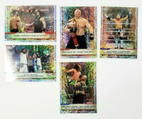 2020 Topps WWE Wrestlemania Foilboard Card Lot of 5 Roman Reigns Brock Lesnar