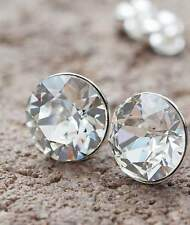 NEU Titan OHRSTECKER 6mm SWAROVSKI STEINE kristallklar/crystal/klar OHRRINGE