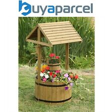Smart Garden Wooden Wishing Well Flower Planter Garden Ornament