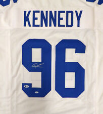 SEATTLE SEAHAWKS CORTEZ KENNEDY AUTOGRAPHED SIGNED WHITE JERSEY BECKETT 110686
