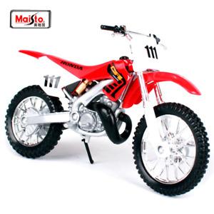 Red Honda CR250R 1:18 Kids Model Diecast Dirt Bike Motorbike Motorcycles Toy 3+