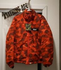 Ape Down Men Jacket Red Signature Pattern Size M - Direct from Japan Store