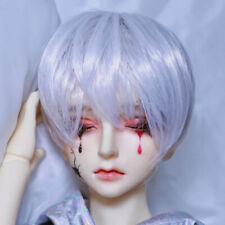 1//3SD 1//4MSD BJD Wig Silver Gray Short Hair for Ball Jointed Doll Male