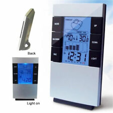 UK LCD Humidity Temperature Meter Hygrometer Room Indoor Thermometer Clock