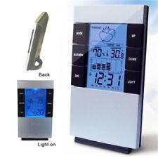 Higrómetro Medidor de Temperatura Humedad LCD Reino Unido Sala Indoor Termómetro Reloj