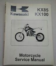 Kawasaki KX85 KX100 Motorcycle Service Manual Soft Cover Book First Edition 2000