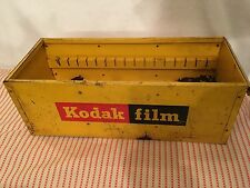 "Vintage Kodak Film Metal Store Display Photo Storage Box 18"" x 7"" x 6.5"""
