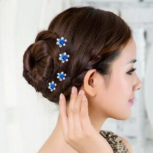 20X Femme Epingle à Cheveux Bijoux Accessoire Strass Mariage Cérémonie Exquis BB