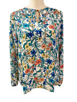 NEW Violet + Claire from Stitch Fix Womens Long Sleeve Floral Tunic Top M Medium
