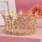7cm High Stars Crystal Gold Golden Wedding Bridal Party Pageant Prom Tiara Crown