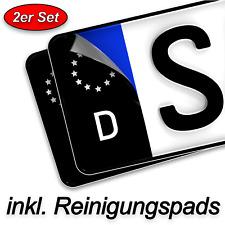 2x Kennzeichen Aufkleber schwarz hochwertig EU Feld Tuning Sticker Nummernschild