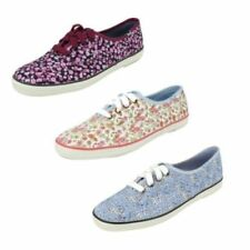 Lace Up Floral Flats for Women