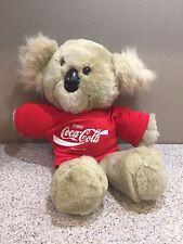 Vintage KOALA BEAR COCA COLA Red Shirt Stuffed Plush Toy