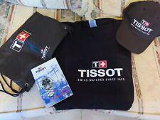 Tissot Gift Set - Men's Black T-Shirt(XL), Gym Sack, Hat, Book - Nascar - RARE!
