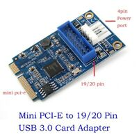 Mini PCIe to 19pin 20pin Header to USB3.0 Mini PCIe to Dual USB Expansion Card