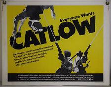 CATLOW ROLLED ORIG HALF-SHEET MOVIE POSTER YUL BRYNNER LEONARD NIMOY (1971)