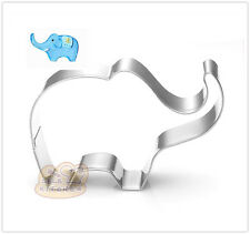 10 Pcs Packed Elephant Stainless Steel Cookie Dessert Fruit Cutter DIY Mold