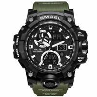 SMAEL Men Quartz Military LED Digital Analog Wrist Watch Sport Army Water Resist