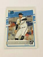 2020 Donruss Baseball Rated Rookie - Jordan Yamamoto RC - Miami Marlins