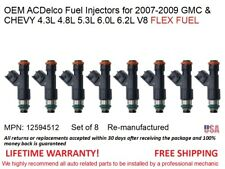 8 fuel Injectors for 07-09 GMC & CHEVY 4.8L 5.3L 6.0L 6.2L FLEX OEM ACDelco