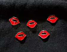 (5pcs) hot red 3D lips rhinestone nail art charms for nails, acrylic, gel NEW