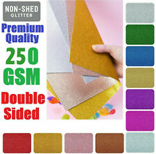 A4 Single Sided Glitter Card Premium Quality Low Non Shed 250gsm Crafts Coloured