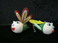 Medusa Metal / Chapa Decoración Mariposa + Saltamontes para Colgar con Muelle
