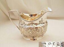 Rare George Iii Hm Sterling Silver Cream Jug 1806