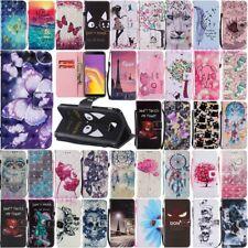 For Samsung Galaxy J3 J7 J4 J6 Plus Wallet Card Holder Flip Leather Case Cover